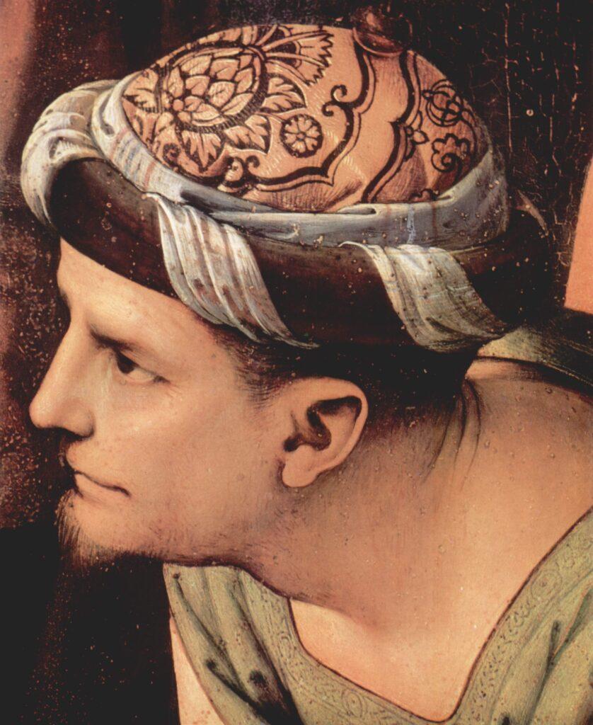 Giuseppe d'Arimatea (particolare da Compianto sul Cristo morto di Pietro Perugino)